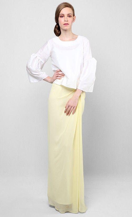 Jackie Kurung Set in White