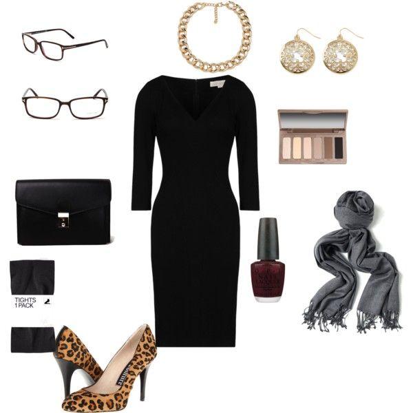 """LBD- cheetah heels, grey pashmina- wedding guest"" by shanoen76 on Polyvore"