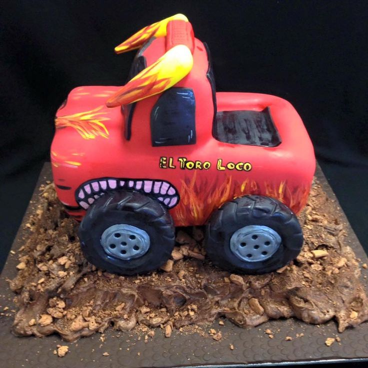 El Toro Loco Monster Truck Themed Cake decorated by Coast Cakes Ltd
