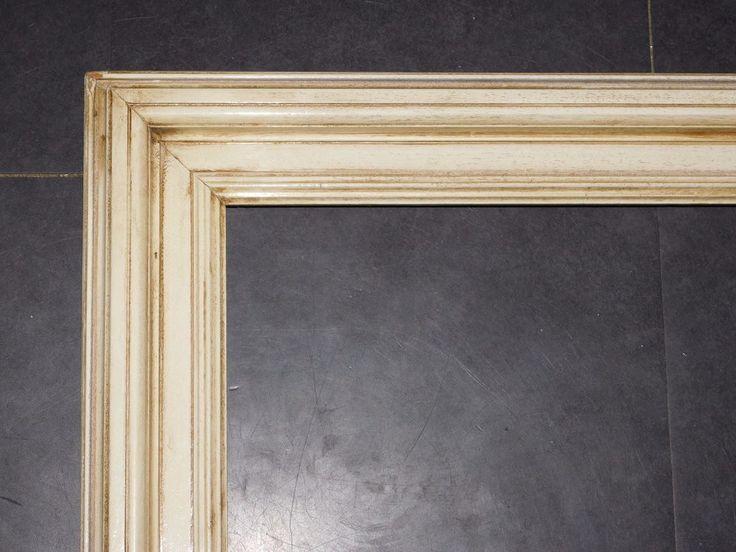 grand cadre vintage en bois patine creme 64cmx84cm cadr753 le charme des cadres anciens. Black Bedroom Furniture Sets. Home Design Ideas