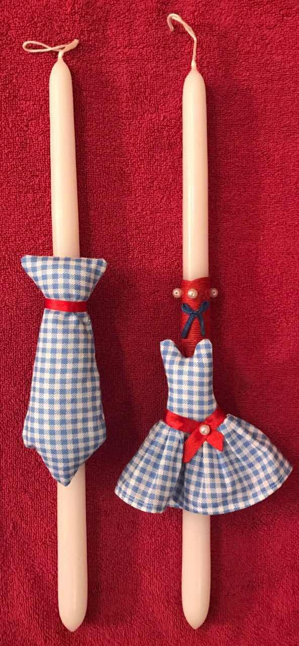 Mrs & Mr Blue. Handmade Easter Candles by Glykeria @Mother&Daughter