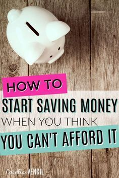YES! This is THE BEST! I needed this in my life! Seriously, if you need to save money if you don't have any money, she gets it! She's my favorite money blogger! This guide to learning how to save money is perfect if you suck at saving money like me! She makes it so easy to find ways to save money. If you are like me and suck at budgets and saving money, you need to check this out! This how to start saving money when you can't afford it is THE BEST!