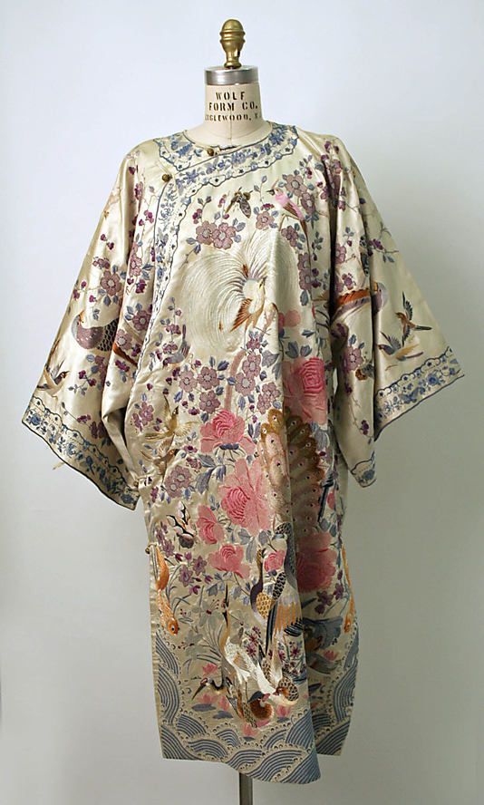 Chinese silk brocade dress circa 1800-1943 from The Metropolitan Museum of Art