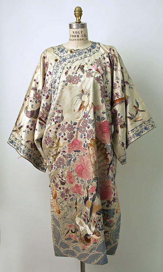 Chinese silk brocade dress circa 1800-1943 from The Metropolitan Museum of Art