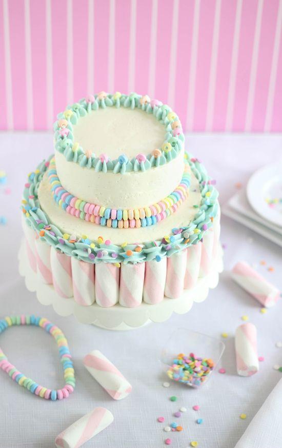Sprinkle Bakes - Marshmallow candy swirl cake