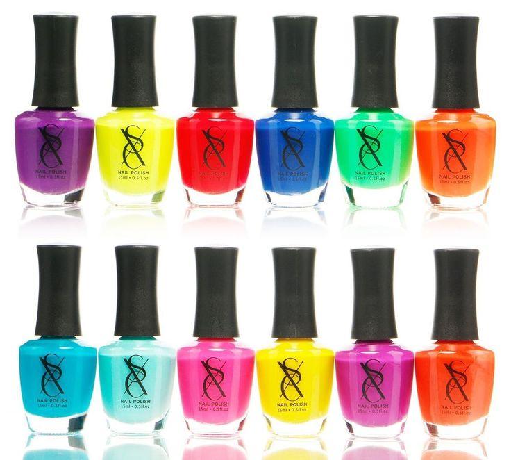 Neon Nail Polish Set Of 12 Premium Colors Bright Summer Tan Long ...