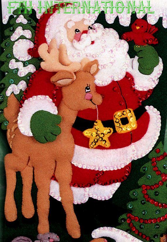 Bucilla Among The Animals  18 Felt Christmas Stocking