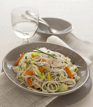 Spaghetti di riso pollo e verdure - Donna Moderna RISO. POLLO,  RICETTE STEP BY STEP,  SPAGHETTI
