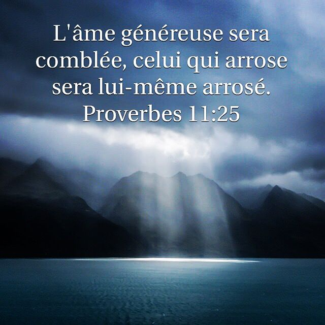 Proverbes 11: 25