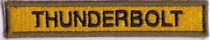 "WWII - THUNDERBOLT ""11th ARMORED"" Od Border (Reproduction)"
