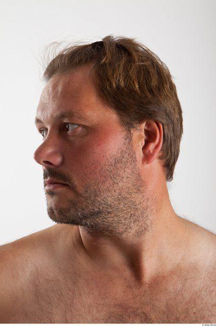 PHOTO OF HEAD MAN ANIMATION REFERENCES WHITE AVERAGE BEARDED