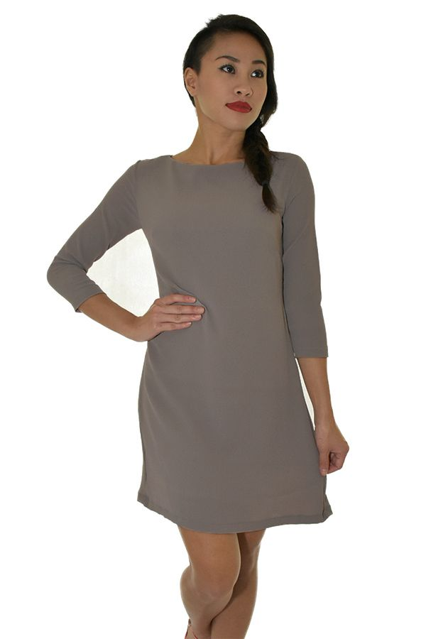PSL High low Swing Dress in Taupe Grey