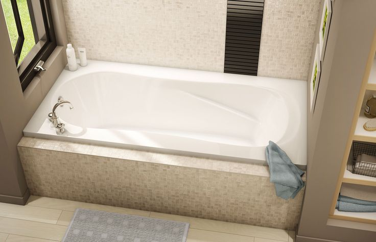 CS 05/06 NS Alcove or Drop-in bathtub - Pearl | interior