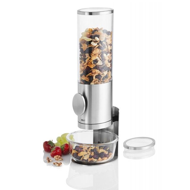 Cereal Dispenser in Stainless Steel 35cm with Stand from the Deposito Range by AdHoc