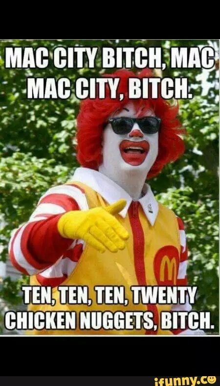 Ronald McDonald sings Tyga!!!!