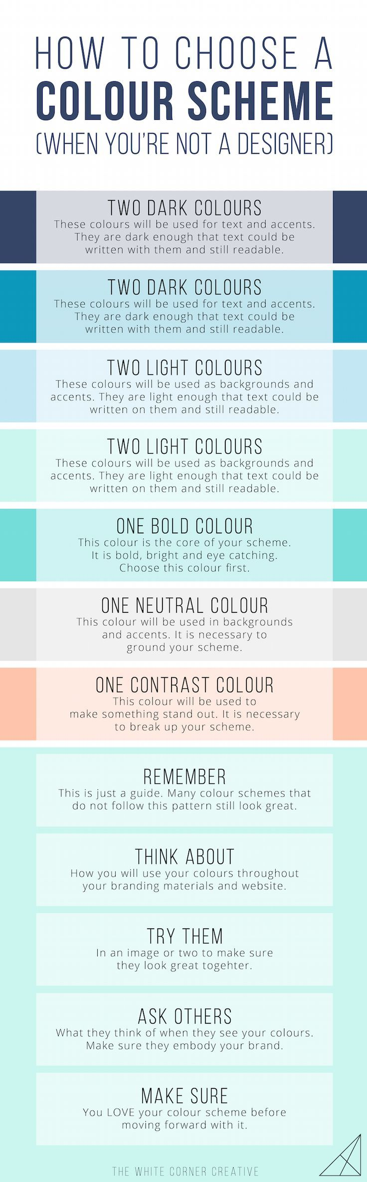 How to Choose a Colour Scheme (When You're not a Designer) - The White Corner Creative