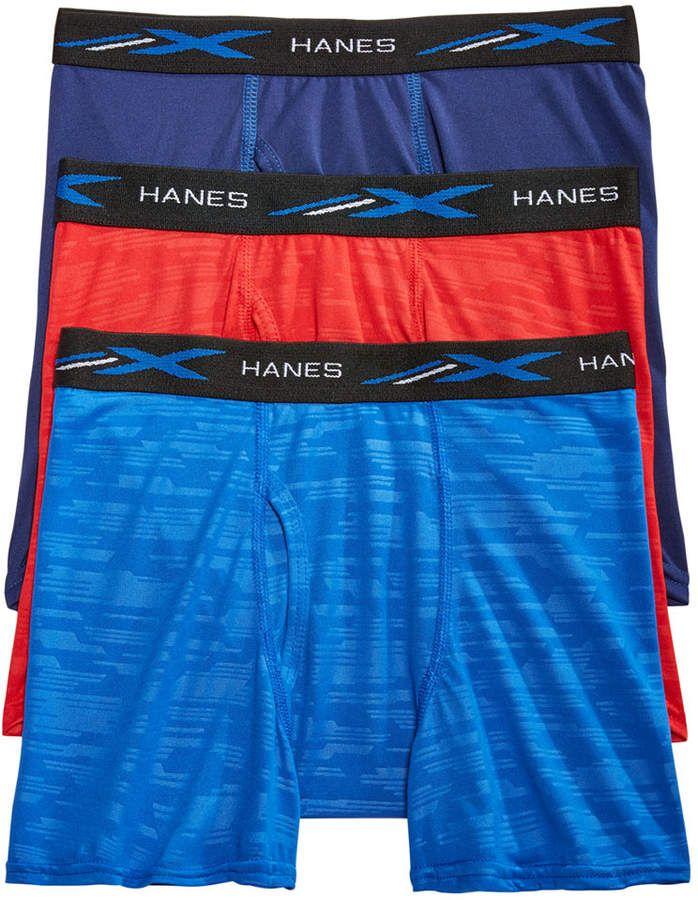 5d6f53d547d2 Little & Big Boys 3-Pk. Embossed Boxer Briefs #boxer#briefs#Hanes ...