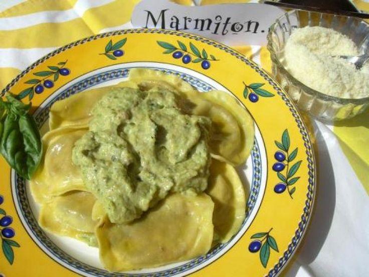 courgette, anchois, Huile d'olive, ail, basilic, crême fraîche, parmesan