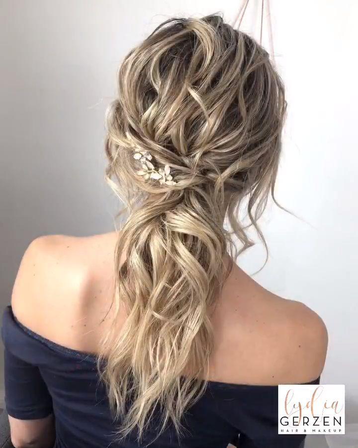 Beautiful Bridal Updo Frisur Hochgesteckt Brautjungfernfrisuren Hochzeitsfrisuren Lange Haare