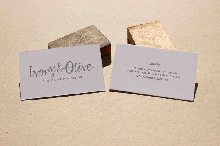 Love our beautiful Ivory & Olive business card - #Letterpress at it's finest!