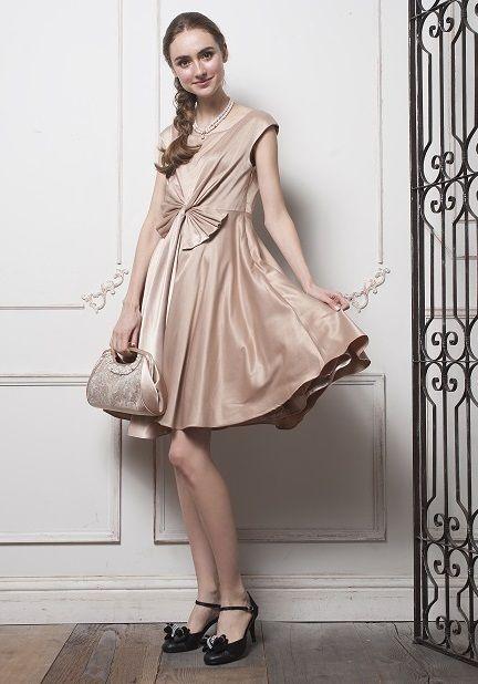 ゲストも可愛く♡ウエストのリボンが可愛らしさをプラス♡結婚式のゲストにぴったりのドレス一覧♪