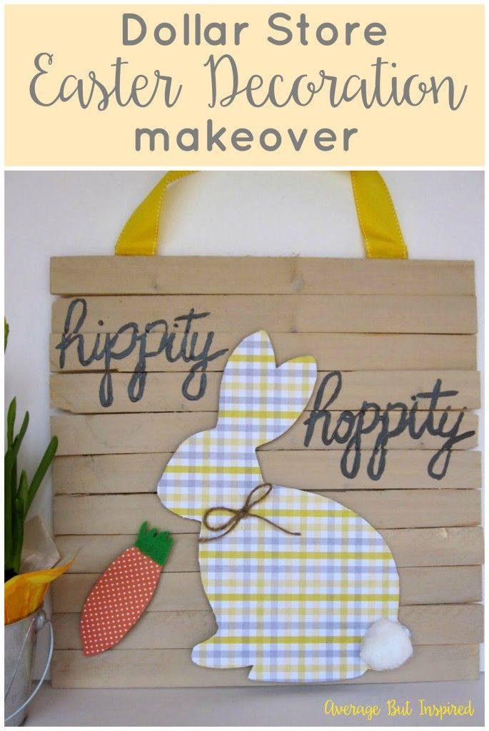 Turn a dollar store Easter decoration into an adorable piece of decor for your spring home! Get the full tutorial at averageinspired.com.