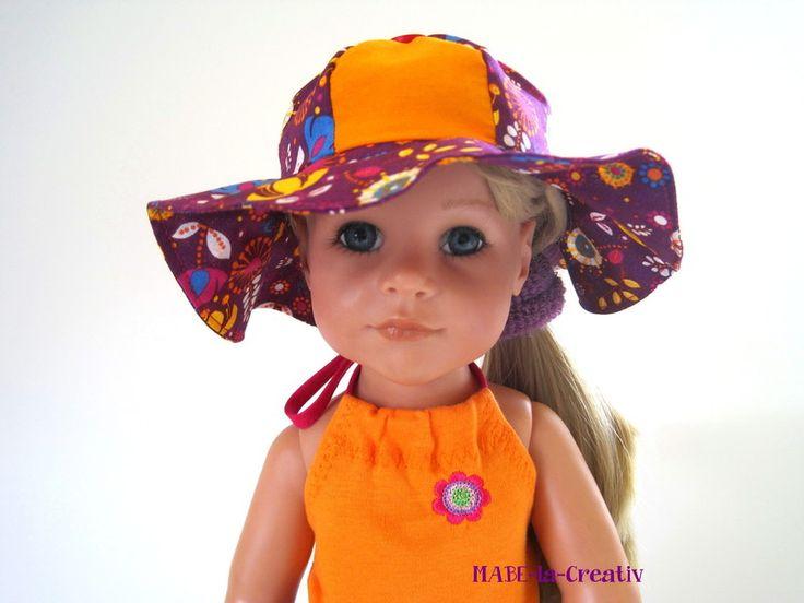 """ Hannah "" Sonnenhut Flower orange-fuchsia von © MABE la Creativ - KIDS auf DaWanda.com"