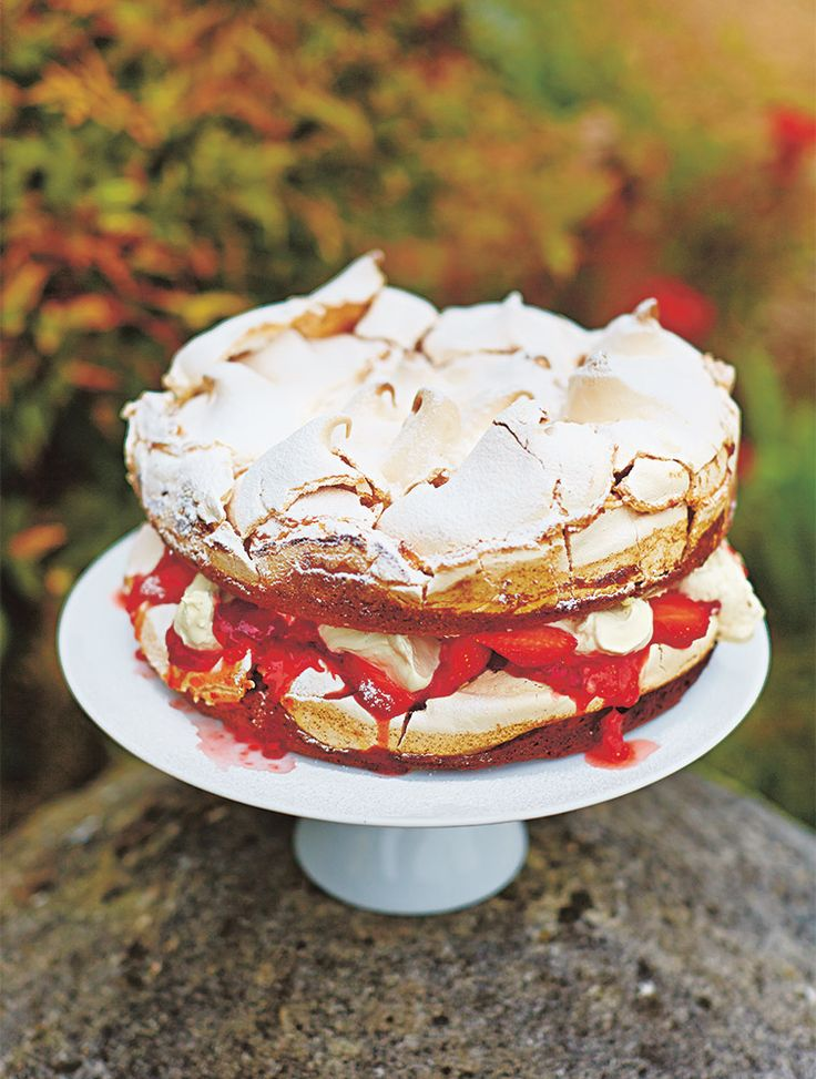 Strawberries and Cream taste even better in a cake!