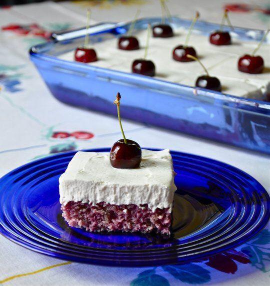 Cherry-Almond Poke Cake