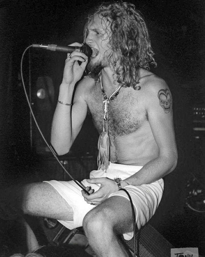 Layne Staley;Oct 23,1990 at The Stone, San Francisco,CA Photo credit to Tony Alves