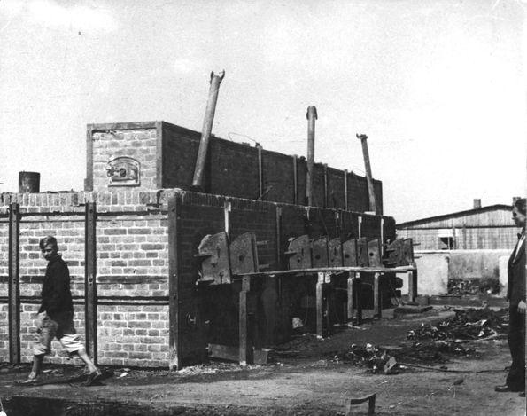 Majdanek death camp, Poland, July 1944, Crematorium.