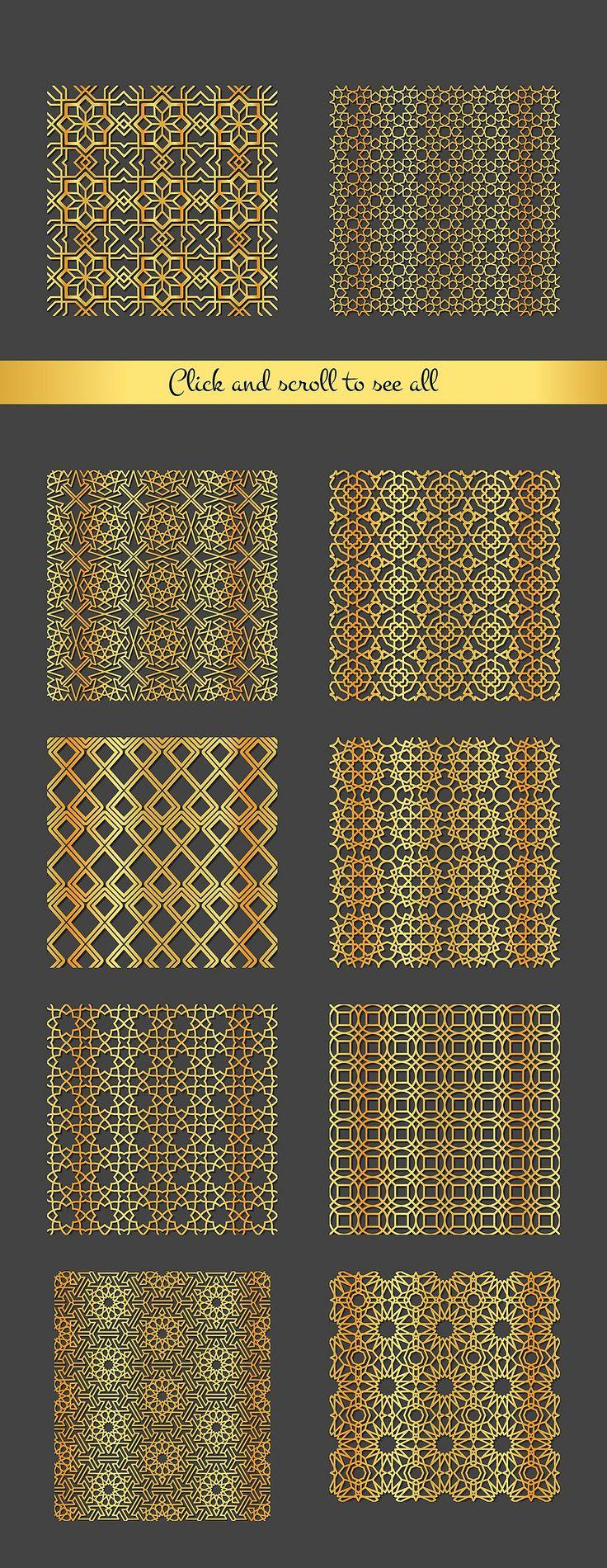 Arabic Patterns set by Katyr on @creativemarket