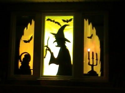 diy halloween window silhouettes daily party dish homemade halloween decorations for windows