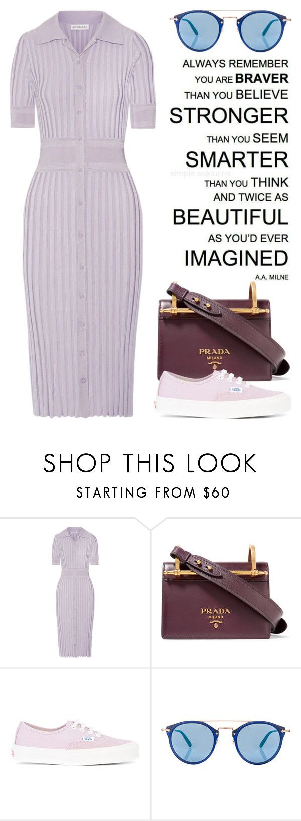 """""""Sep 3rd (tfp) 4277"""" by boxthoughts ❤ liked on Polyvore featuring Altuzarra, Prada, Vans, Oliver Peoples and tfp"""