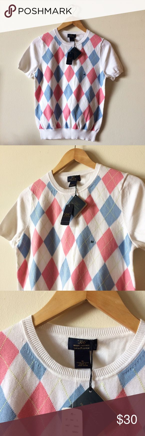346 Brooks Brothers Top New with tag. 100% Cotton Brooks Brothers Tops