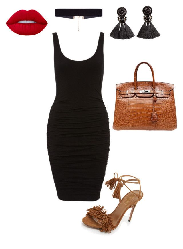 """""""Untitled #70"""" by sandie-mefaddi on Polyvore featuring Aquazzura, Hermès, Lime Crime, H&M and 8 Other Reasons"""