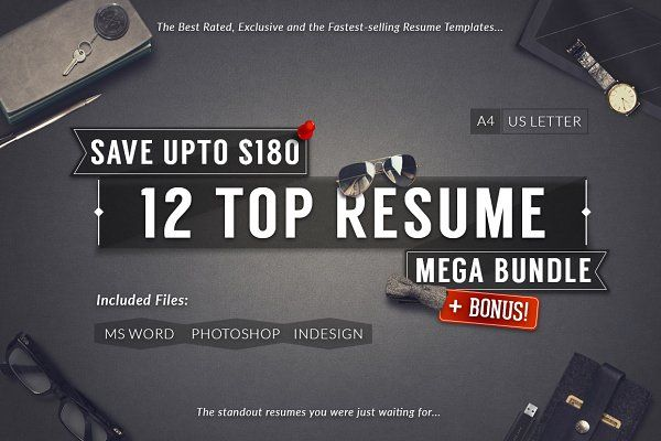 12 Top Selling Resume Mega Bundle - Resumes