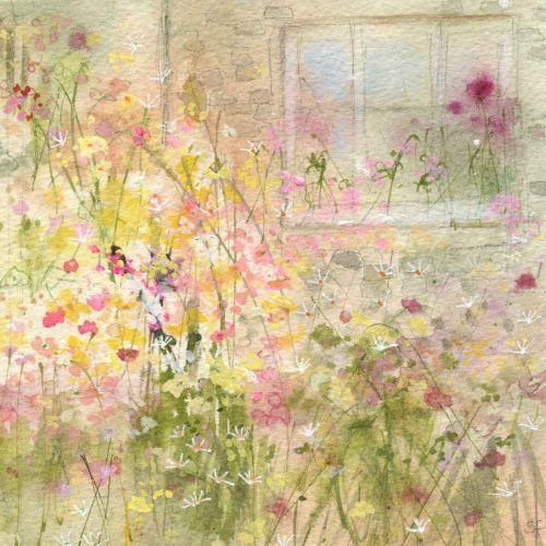"""Cottage Garden"" -- by Lucy Grossmith, British, Suffolk Original Paintings"