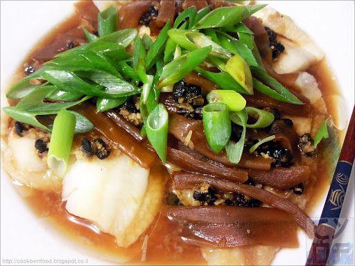 Steamed Fish Fillet with Black Beans | Рыбное филе на пару с черными бобами (豆豉清蒸魚片)