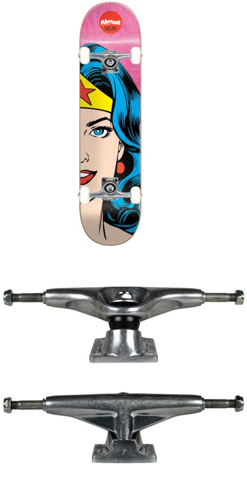 Other Skate- and Longboarding 16265: Almost Skateboard Splitface Chris Haslam 8.375 Wonder Woman Tensor Assembled -> BUY IT NOW ONLY: $79.95 on eBay!