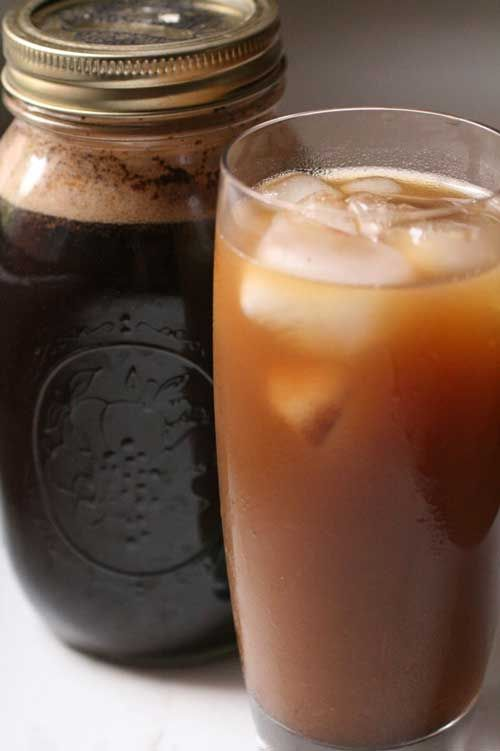 Recipe for Cold-Brewed Iced Coffee - On a summer weekend morning, there's no better way to drink coffee. No need to brew hot coffee and then chill it.  None of the bitterness that iced coffee can sometimes produce.