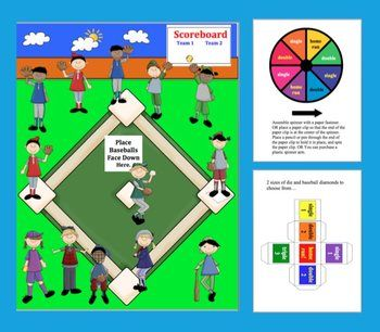 Multiplication Baseball Activities Math Centers- 4 Ways to Play - Common Core $