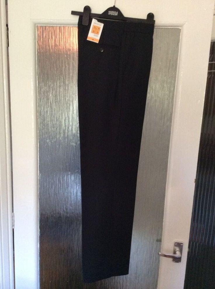 M&S Man/Boy TAILORING WOOL BLEND TROUSERS W30  INside LEG 33  BNWT NAVY& stripes