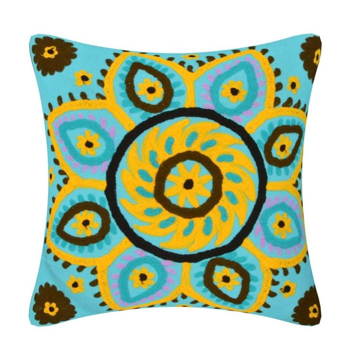 Suzani cushion cover Embroidered pillow cover handmade cushion cover floor  #Handmade