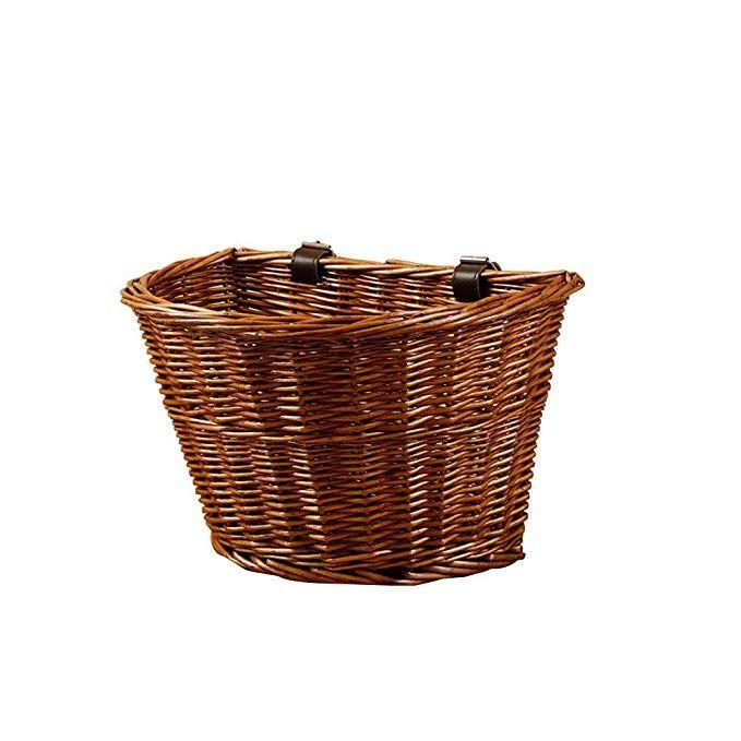 Bicycle Shopping Basket Bike Front Handlebar Wicker Woven Basket Pet Carrier