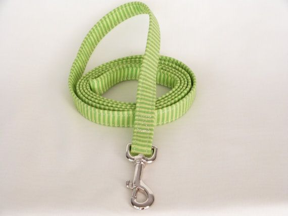 Hey, I found this really awesome Etsy listing at http://www.etsy.com/listing/126528793/dog-leash-green-stripes-34-wide-6-feet