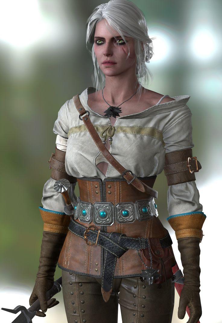 The Witcher 3 Wild Hunt Ciri test render1[UPDATE1] by takebon999.deviantart.com on @DeviantArt