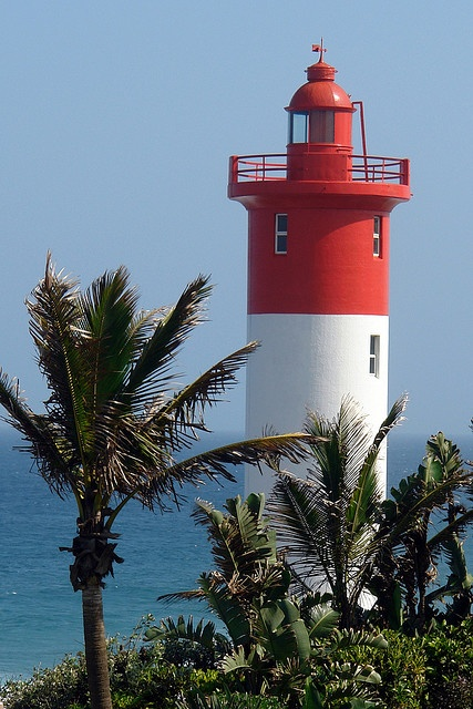 Lighthouse & Palm Trees by buckofive, via Flickr - The Umhlanga Lighthouse, Durban, South Africa.