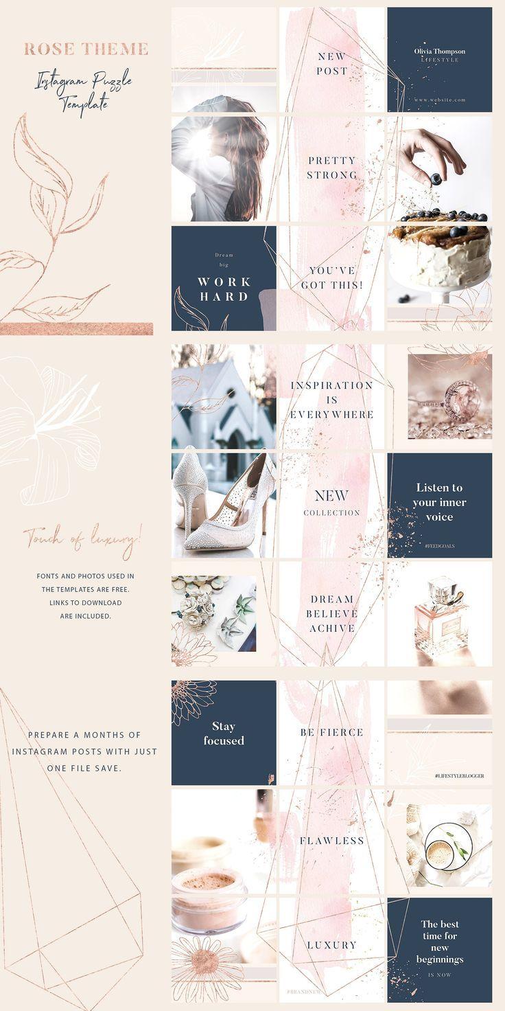 Luxury Instagram Posts And Stories Instagram Feed Layout Instagram Design Instagram Template Design