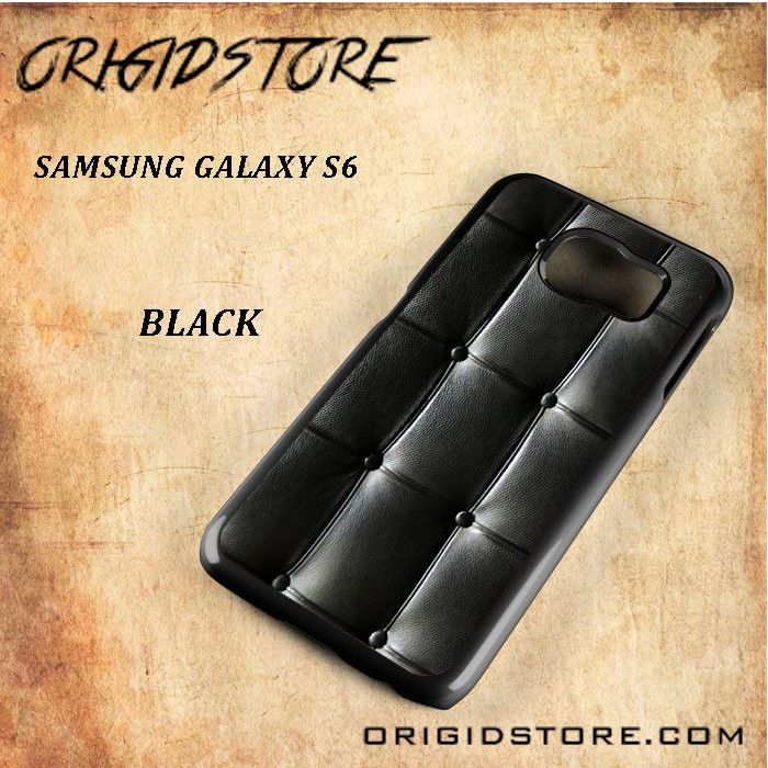 Black Leather Vintage Sofa Black White Snap On Or 3D For Samsung Galaxy S6